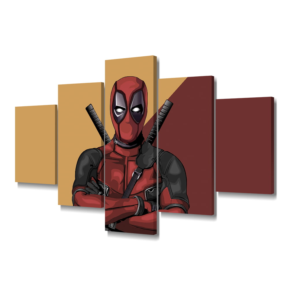 Quadro Decorativo Deadpool 5x1 - Casa Colorida