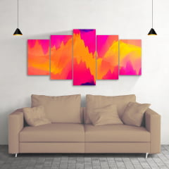 Quadro Decorativo Abstrato Cores 5x1