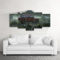Quadro Decorativo Mercedes 5x1