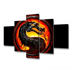 Quadro Decorativo Mortal Kombat 5x1 - Casa Colorida