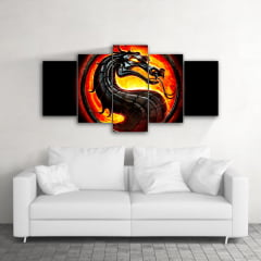 Quadro Decorativo Mortal Kombat 5x1