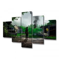 Quadro Decorativo The Last Of Us Selva 5x1 - Casa Colorida