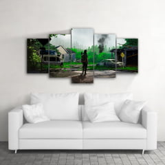 Quadro Decorativo The Last Of Us Selva 5x1