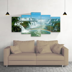 Quadro Decorativo Cataratas do iguaçu 5x1