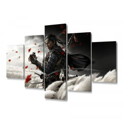 Quadro Decorativo Ghosts Of tsushima 5x1