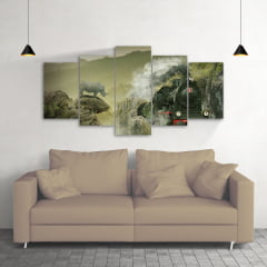 Quadro Decorativo Trem Surrealy 5x1