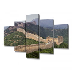 Quadro Decorativo Muralha China 5x1