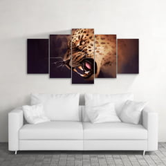 Quadro Decorativo Leopardo 5x1