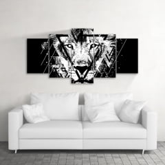Quadro Decorativo Lion The Black 5x1
