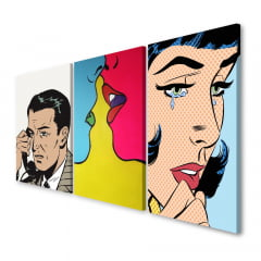 Quadro Decorativo Pop Art 3x1