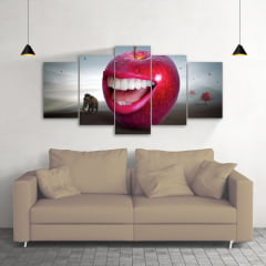 Quadro Decorativo Surrealismo 5x1